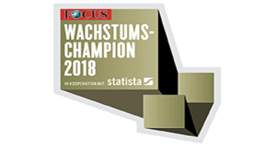 Logo Wachstumschampion 2018 von Focus Business
